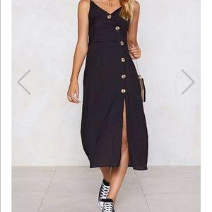 Nasty gal Easy Button the Eye Midi Dress 🆕
